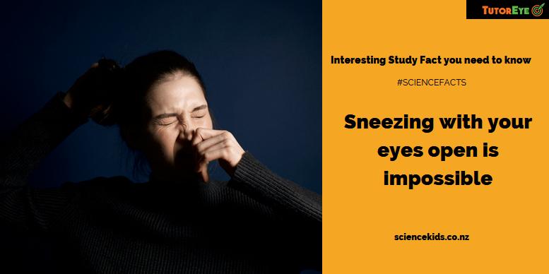Sneezing Study Fact