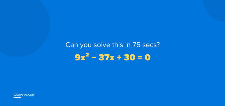Can you solve algebra equation