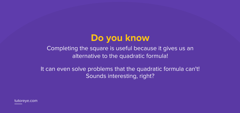 Do you know-completing the square